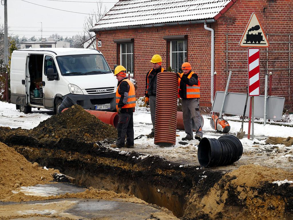 Przebudowa sieci wod.-kan. na osiedlu Kopernika w Jarocinie