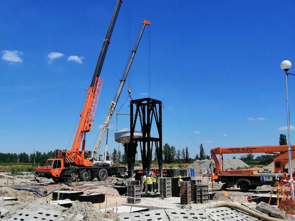 Budowa instalacji do odzysku fosforu w Cielczy