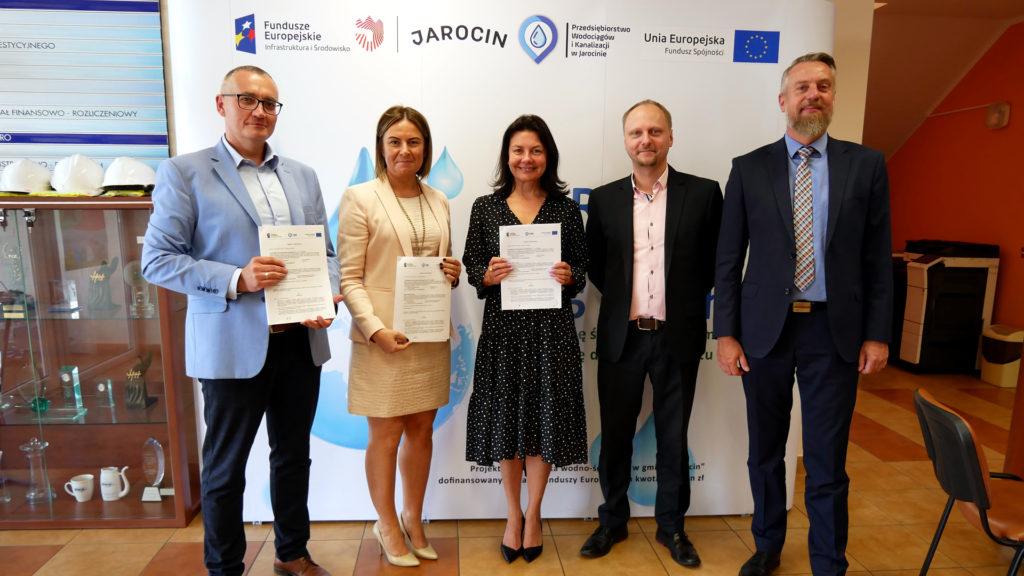 Podpisanie umowy na inteligentny system zarządzania sieciami wod.-kan.