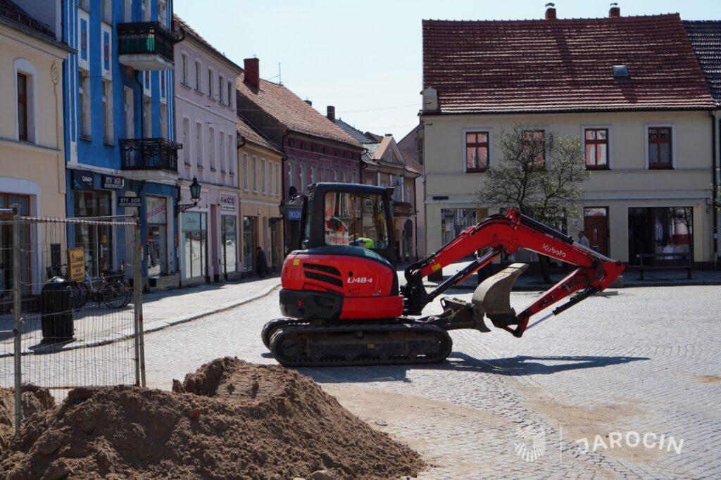 Prace związane z rewitalizacją centrum Jarocina
