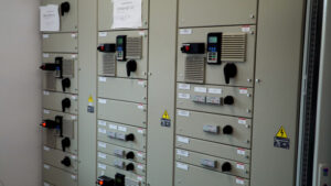 Stacja Odzysku Surowców - panel sterowniczy