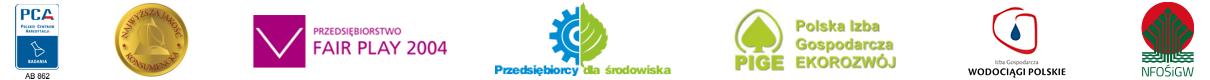 Logotypy instytucji i posiadanych nagród
